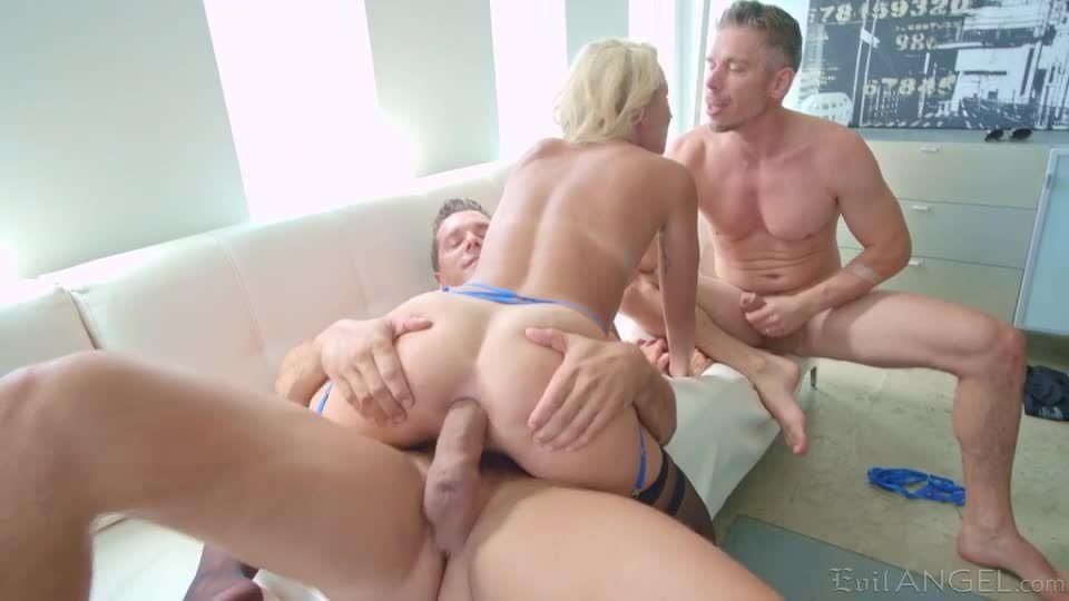 Gets A Two Dick Treatment For Both Her Holes (Bang! Vault / Bang! Originals) Screenshot 8