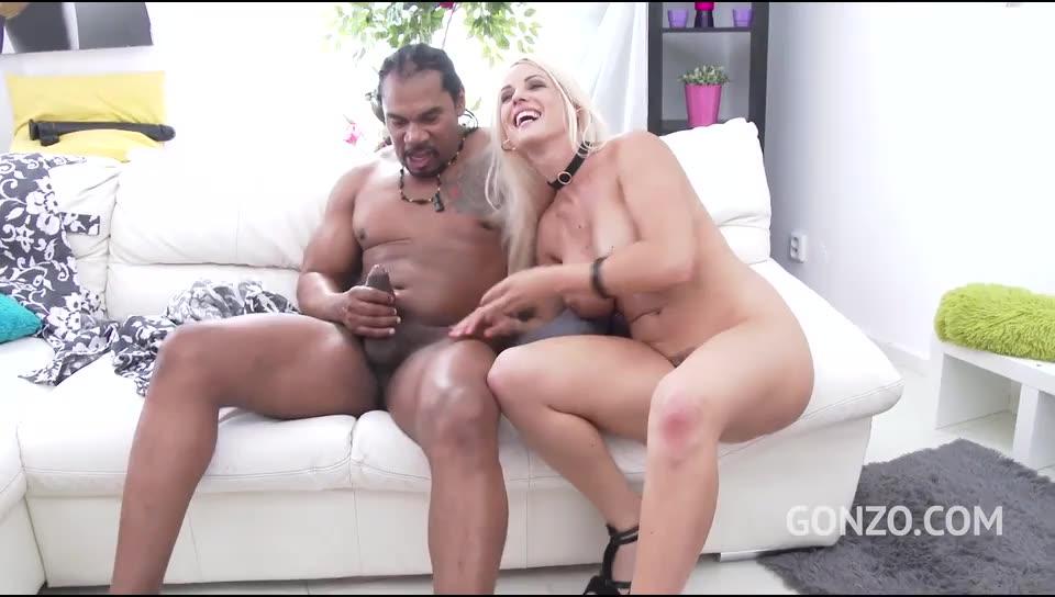 [LegalPorno] Interracial double anal with four monster cocks - Blanche Bradburry (GangBang)/(4M1F)