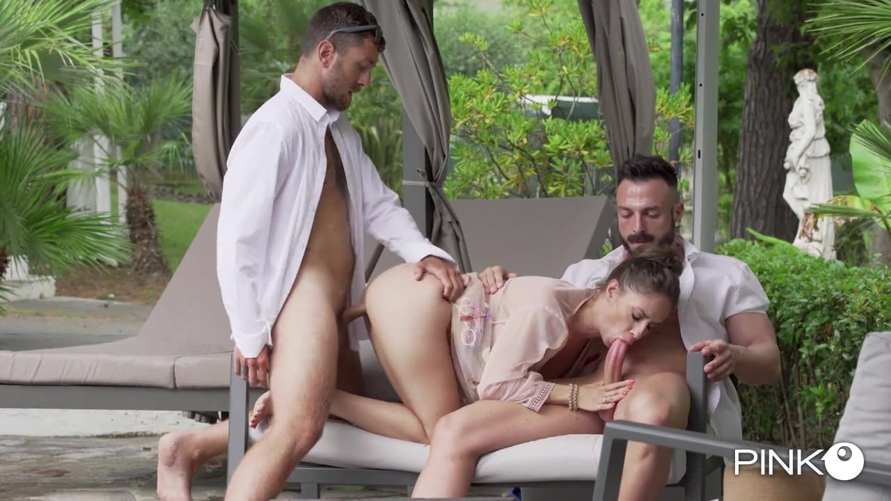 Enjoys It With Two Big Cocks (PinkoClub) Cover Image
