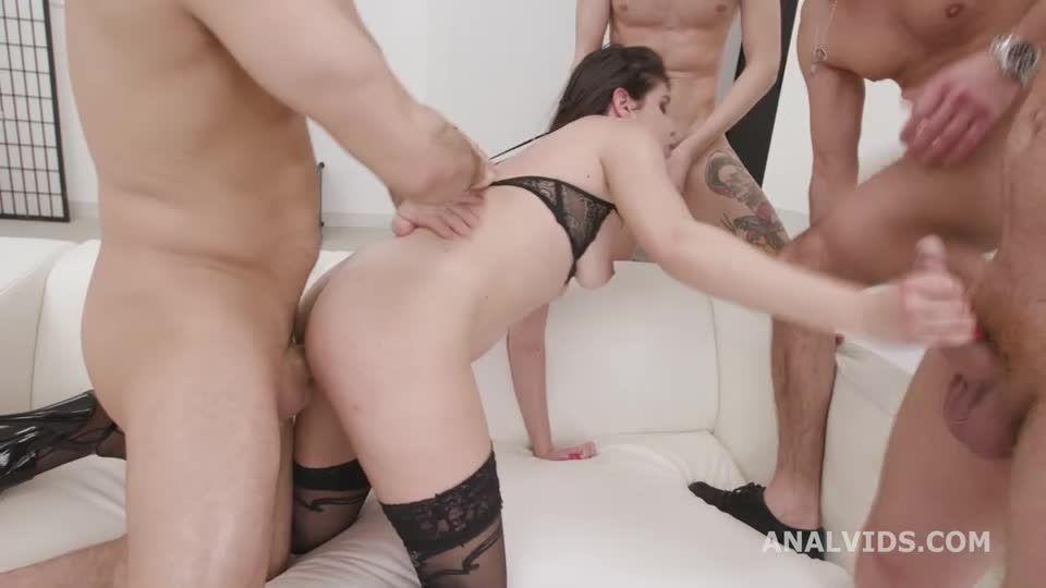 Drinking Queen Balls Deep Anal, DAP, Gapes, Tons of Pee Drink, and Swallow (LegalPorno) Screenshot 7