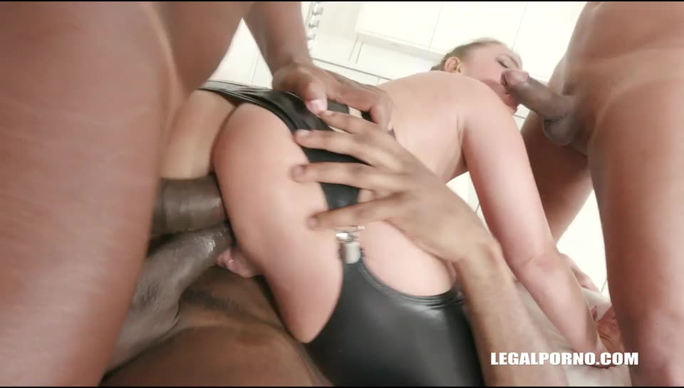 [LegalPorno] Goes all black & takes two cocks in the ass - Sexy Susi (DAP)/(Blonde)