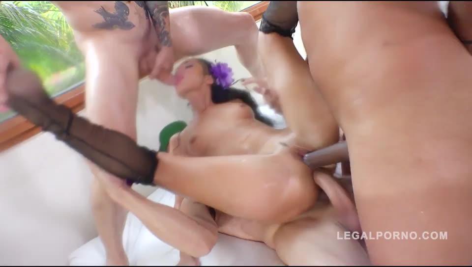 [LegalPorno] Ass smashed by 4 cocks & DAP'ed - Angie Mood (DAP)/(Natural Tits)