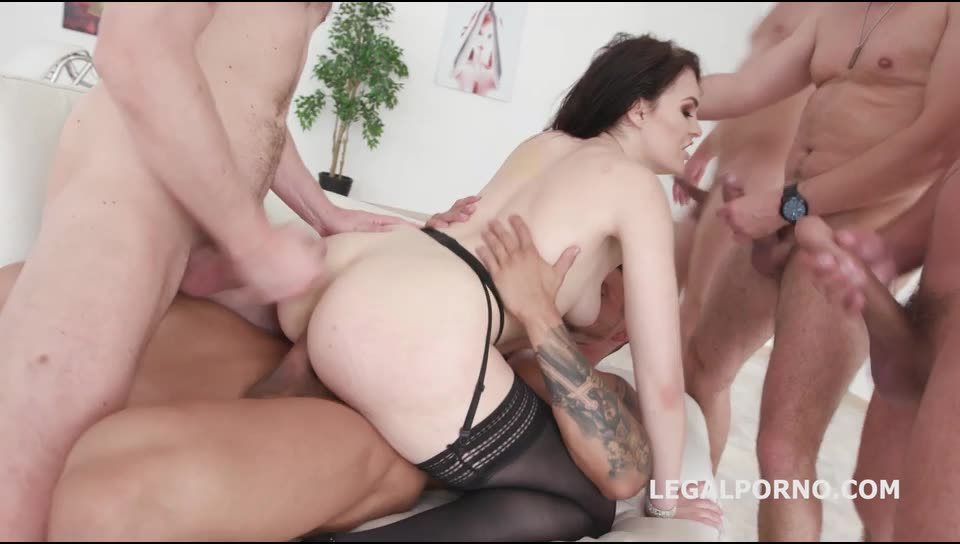[LegalPorno] DAP Destination Balls Deep Anal First DAP Gapes Swallow - Hanna Vivienne (GangBang)/(High Heels)