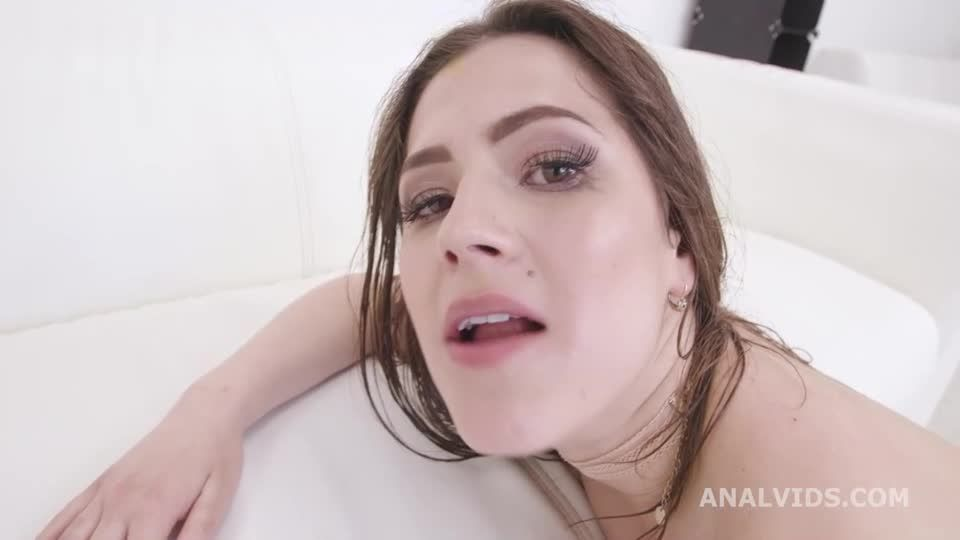 Black DP, BBC with DP, Gapes, Squirt, Pee Drink, Creampie and Cum in Mouth (LegalPorno / AnalVids) Screenshot 9
