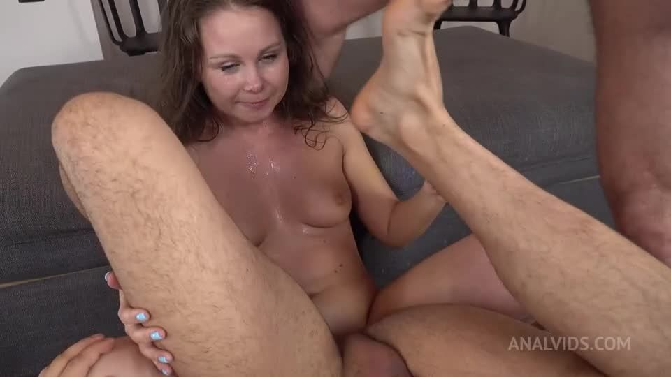 First DAP shy – Two Cocks in Ass – Big Anal Gape – Double Cum in Mouth VK060 (LegalPorno / AnalVids) Screenshot 9