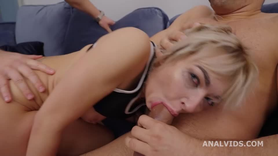 Finally Wet, Pee Scene with Balls Deep Anal, DAP, Gapes and Cum in Mouth (LegalPorno / AnalVids) Screenshot 2