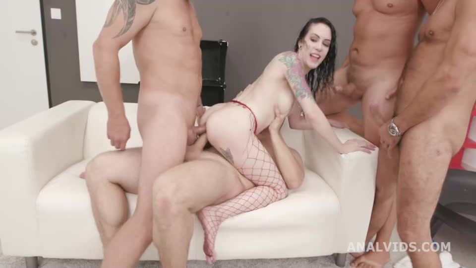[LegalPorno] Basined, turns wild with Balls Deep Anal, DAP, Monster Gapes, Pee Drink and Swallow - Anna De Ville (GangBang)/(Natural Tits)
