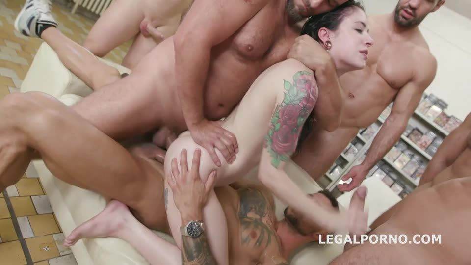 [LegalPorno] The 50th scene 2, Anna wrote the script and we shot it. DAP, Monster Gapes, Pee drink - Anna De Ville (GangBang)/(Pissing)