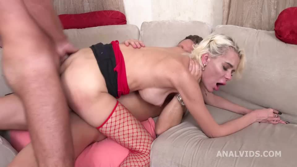 [LegalPorno / AnalVids] My first DP, Balls Deep in every hole, with Gapes and Facial - Liana (DP)/(High Heels)