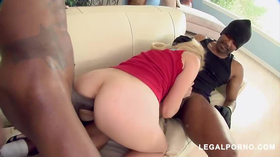BBC Double Penetration For Blonde White Teen (LegalPorno / BangBros) Screenshot 1