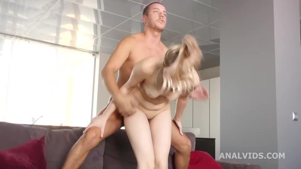 My first DP, Balls Deep Anal, DP, Gapes and Swallow (LegalPorno / AnalVids) Screenshot 4