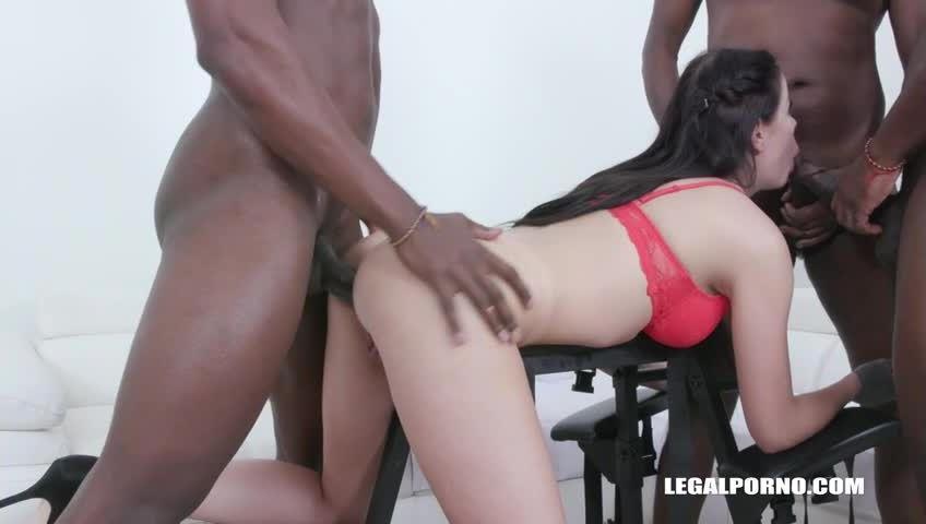 First time enjoy 3 BBC & pissing (LegalPorno) Screenshot 2