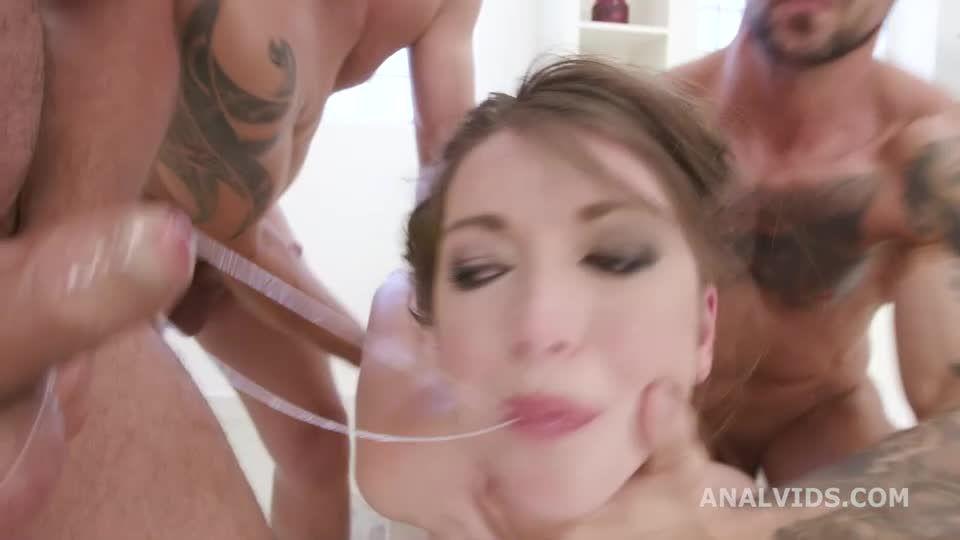 Manhandle, Balls Deep Anal, DAP, Rough Sex, Creampie to Swallow (LegalPorno) Screenshot 1
