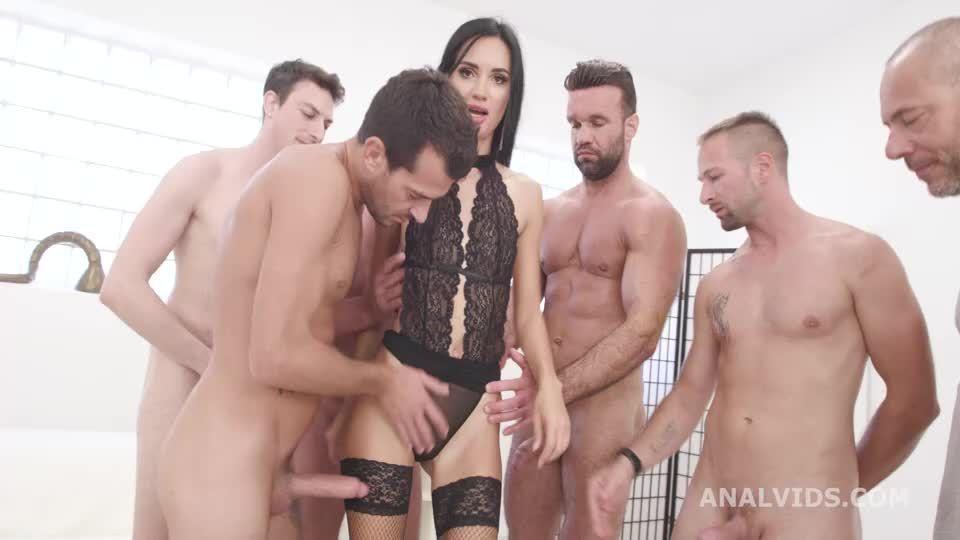Double Anal GangBang, BWC, ATM, DAP, Rough Sex, Big Gapes, Creampie Swallow (LegalPorno / AnalVids) Screenshot 1
