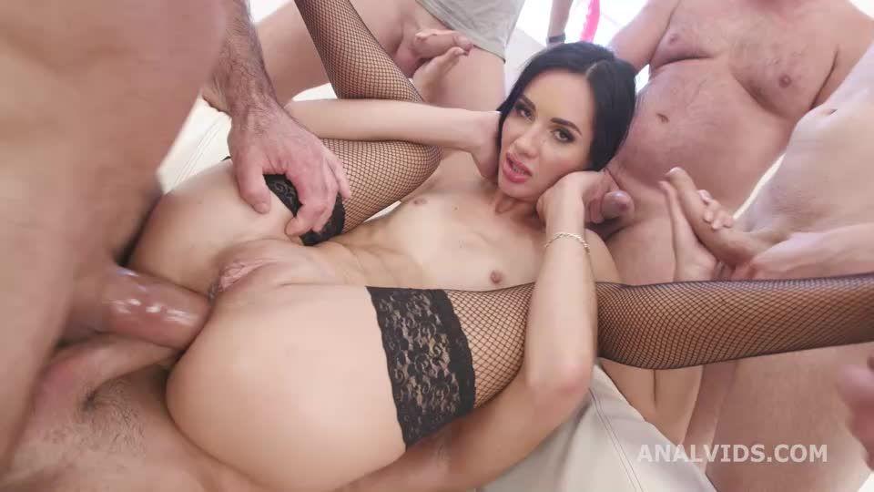 Double Anal GangBang, BWC, ATM, DAP, Rough Sex, Big Gapes, Creampie Swallow (LegalPorno / AnalVids) Screenshot 4