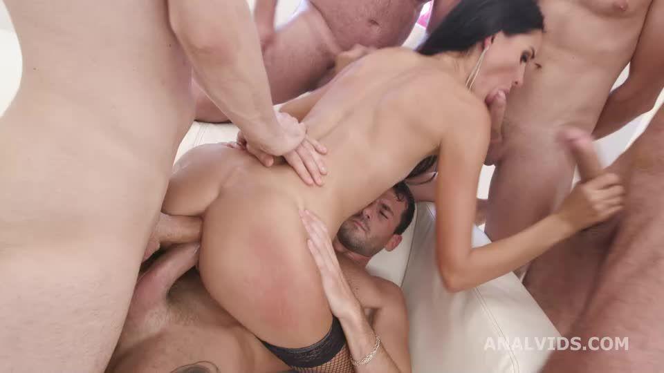 Double Anal GangBang, BWC, ATM, DAP, Rough Sex, Big Gapes, Creampie Swallow (LegalPorno / AnalVids) Screenshot 5