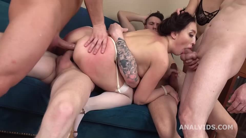 Mistress, Drinks and gets used with DAP, Gapes, Buttrose, Manhandle and Swallow (LegalPorno / AnalVids) Cover Image