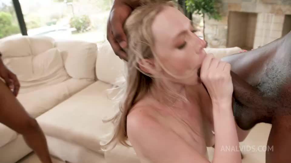 Caught by 3 huge black dick guys during dildo masturbation then DP 4some BIW004 (LegalPorno / AnalVids) Screenshot 8