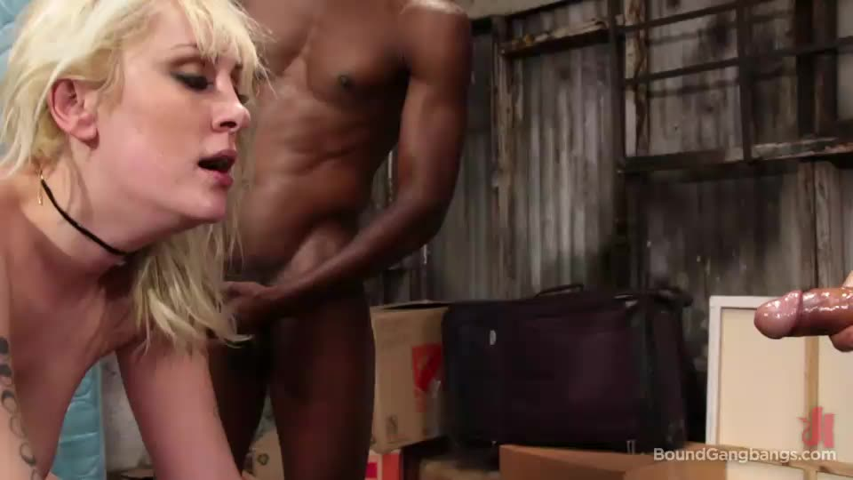 [BoundGangBangs / Kink] Blonde Girl Next Door, Bound and Gangbanged by Horny Movers - Maxim Law (GangBang)/(Stockings)