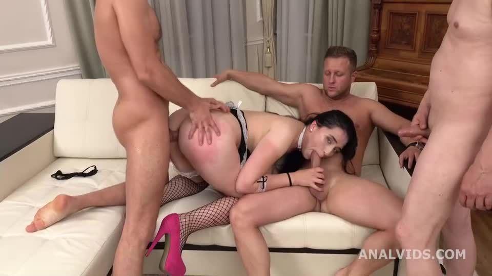 My First DP, Balls Deep Anal, DP, Gapes, rough Sex and Swallow (LegalPorno) Screenshot 3