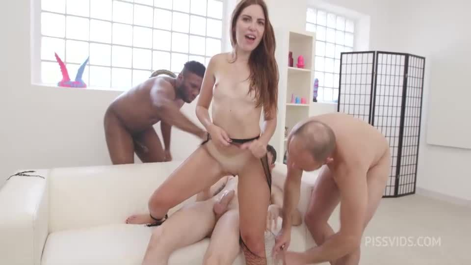 Naked Barefoot goes Wet, ATM, DAP, Gapes, Pee Drink, Cum in Mouth (LegalPorno / AnalVids) Screenshot 4