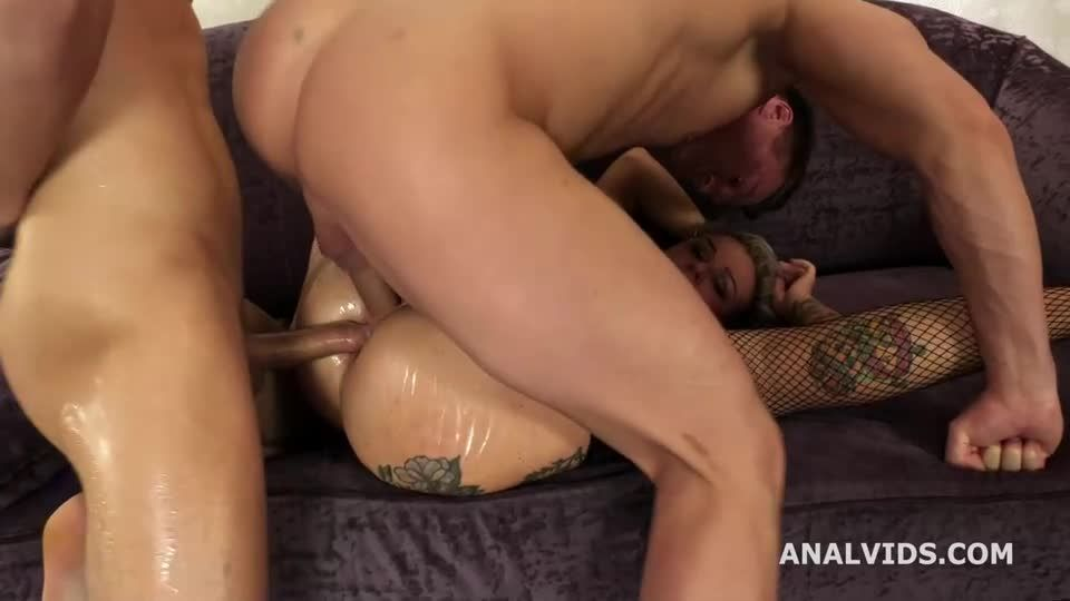 Joins porn and gets Wet, Balls Deep Anal, DP, Pissing and Cum in Mouth (LegalPorno) Screenshot 7