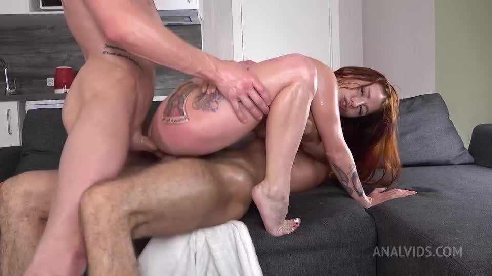 DP redhead – Return in Porn – Hard Anal Fuck – Squirting + Gagging VK087 (LegalPorno / AnalVids) Screenshot 3