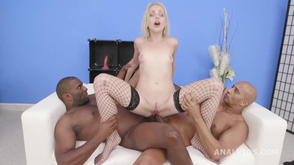 Black Pee, 2 BBC, Balls Deep Anal, Big Gapes, Pee Drink, Creampie Swallow (LegalPorno) Screenshot 6