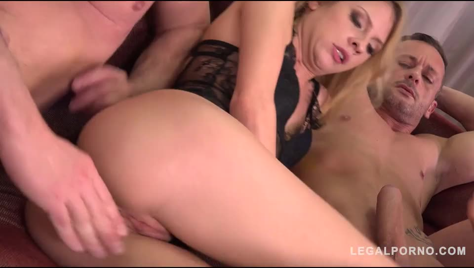 [LegalPorno] Ultra Nympho gets the Anal Gangbang of her Dreams - Rebecca Volpetti (DP)/(Brunette)