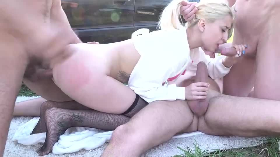Teens in Hard DP – First Time Three Big Cocks – Balls Deep Anal VK066 (LegalPorno / AnalVids) Screenshot 1