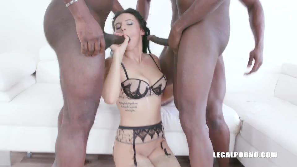 [LegalPorno] Back to take two black cocks in the ass - Nelly Kent (DAP)/(Brunette)