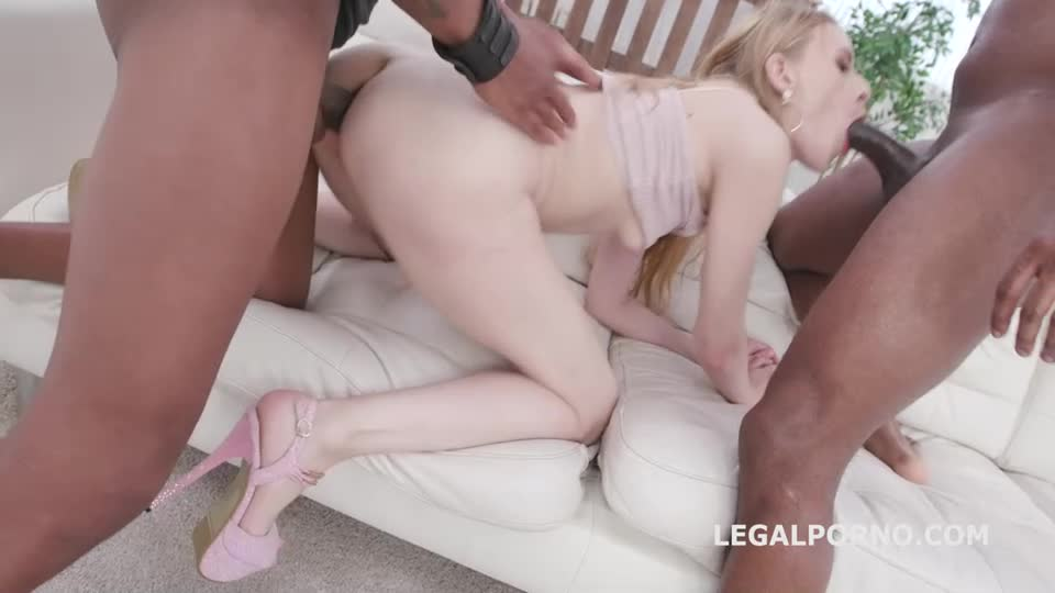 [LegalPorno] Double Anal Creampie, 2 BBC with Balls Deep Anal, Gapes, DAP, Creampie and Swallow - Nikki Riddle (DAP)/(Toys)