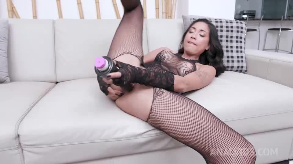 Young brazilian hottie assfucked in threesome with her first DP YE120 (LegalPorno / AnalVids) Screenshot 1