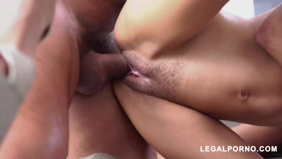 Horny Latin Teen Gets DP And Squirts (LegalPorno) Screenshot 0