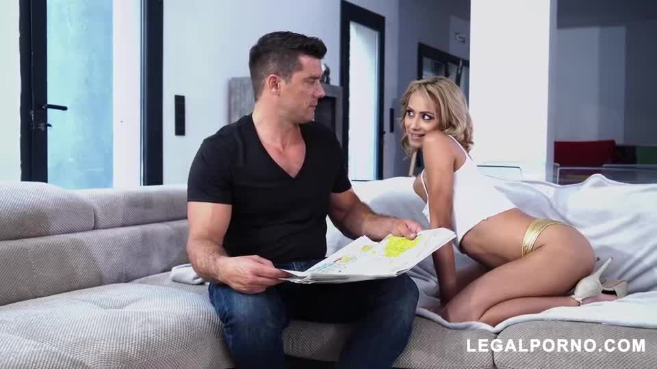 Horny Latin Teen Gets DP And Squirts (LegalPorno) Screenshot 4