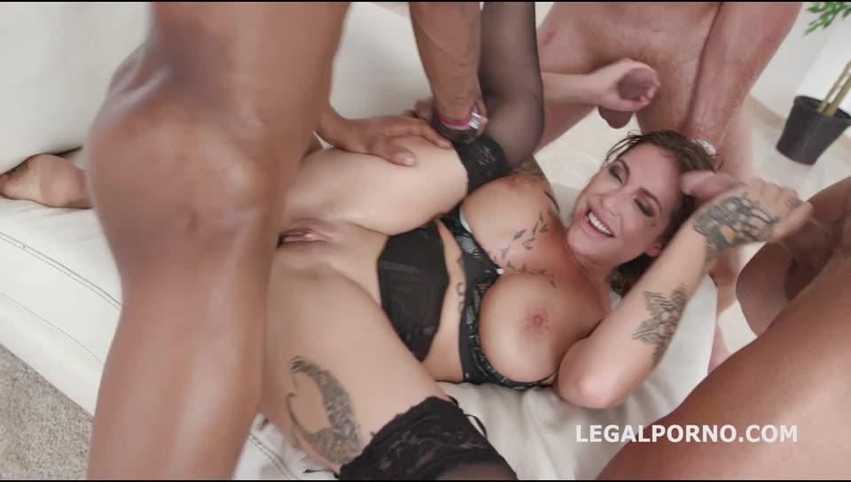 [LegalPorno] DAP destination first time DAP with short DP, balls deep action, growing gapes, 4 swallow - Heidi Van Horny (GangBang)/(Stockings)