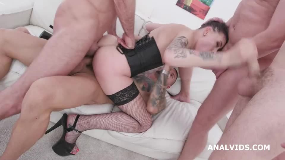Fucking Wet, Balls Deep Anal, DAP, Gapes, Face Slapping, Pee Drink and Swallow (LegalPorno) Screenshot 5