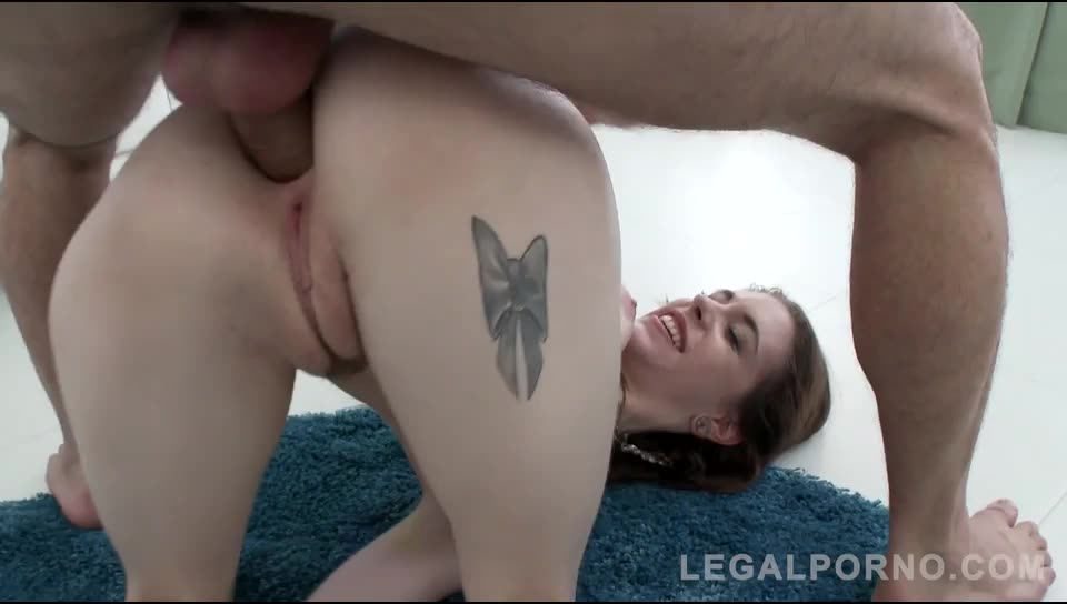 [LegalPorno] Super slut manhandled & assfucked (Airtight DP) - Anna De Ville (DP)/(Brunette)