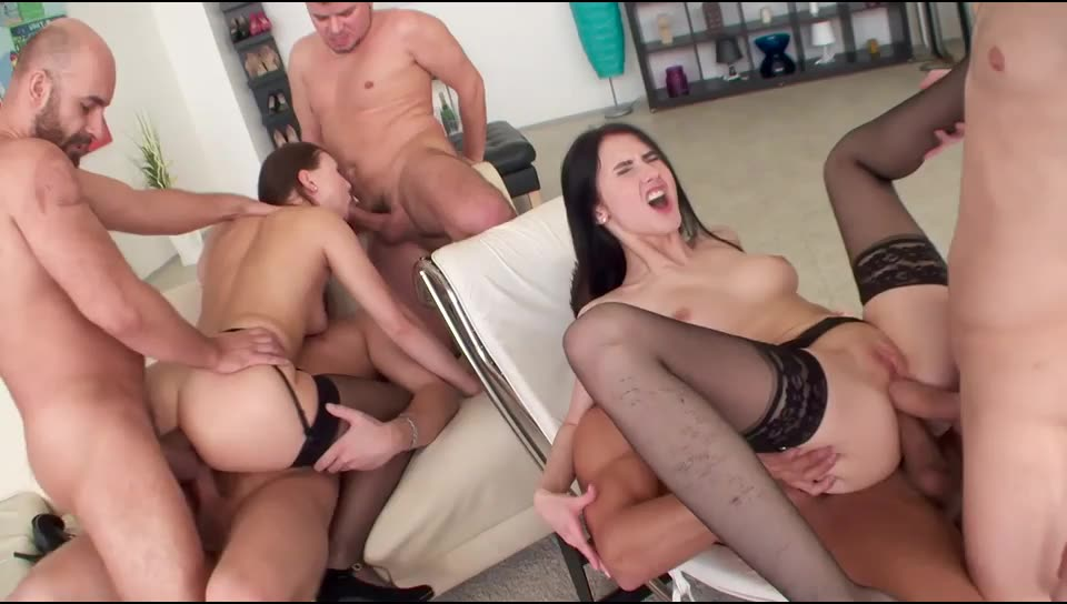 [LegalPorno] ANAL/GAPES/FACIAL/SWALLOW and what the fuck - Crystal Greenvelle, Ornella Morgan (GangBang)/(2M1F)
