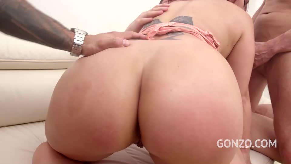 [LegalPorno] First time to Gonzo with her first double penetration - Adara Love (DP)/(High Heels)