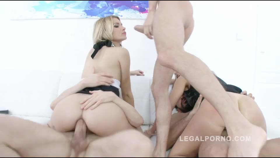 Double anal (DAP) with 3 guys (LegalPorno) Screenshot 2