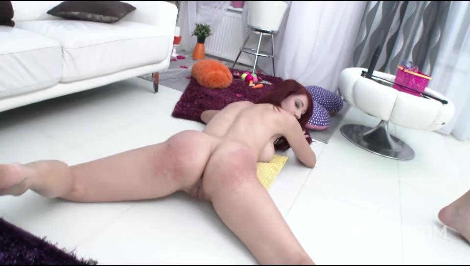 Welcome to Gonzo! redhead slut Airtight DP (LegalPorno) Screenshot 3