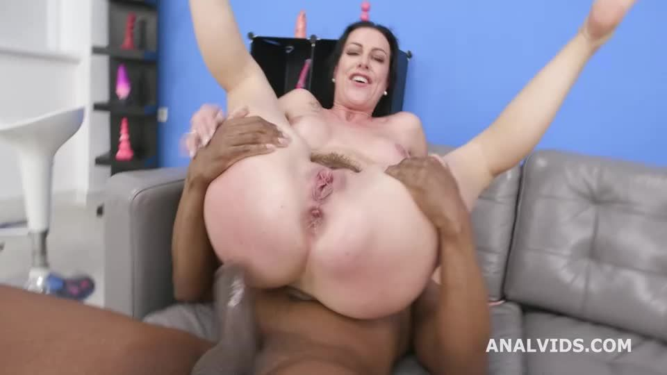 Gets Squirted with 3 BBC for Balls Deep Anal, DAP, Gapes, Swallow and Facial (LegalPorno / AnalVids) Screenshot 6