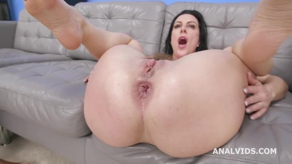 Gets Squirted with 3 BBC for Balls Deep Anal, DAP, Gapes, Swallow and Facial (LegalPorno / AnalVids) Screenshot 7