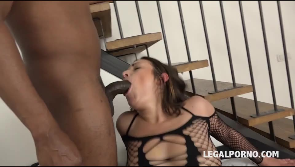 [LegalPorno] Blacked and DPed in hard interracial threesome - Alexis Cherry (DP)/(Natural Tits)