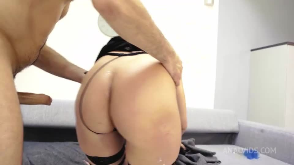 Dirty hard anal fuck milk strawberry and cream double penetration DP PAF009 (LegalPorno / AnalVids) Screenshot 7