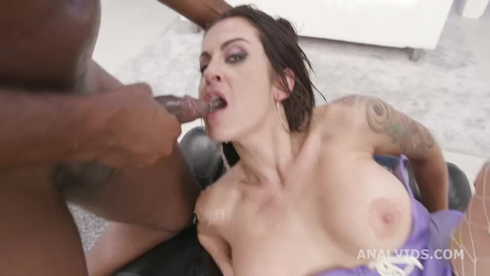[LegalPorno / AnalVids] Black Pee, BBC with Balls Deep Anal, DAP, Gapes, Pee drink and Swallow - Bianka Blue (DAP)/(Tattoo)
