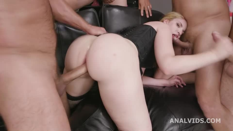 [Legalporno] Fucking Wet, Balls Deep Anal, Gapes, Pee Drink And Swallow - Kizzy Six (GangBang)/(Blonde)