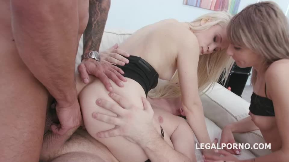 [LegalPorno] Squirting with Toys, Balls Deep Anal, Gapes, Squirt Drink, Anal Fisting and Creampie - Vicky Sol, Nikki Hill (DAP)/(Lingerie)