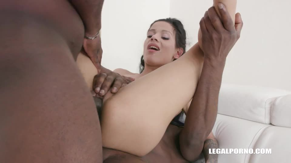 [LegalPorno] First time anal and DP with black cocks - Sandra Soul (DP)/(2M1F)